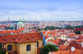 Prague panorama from hradcanske namesti czech republic Royalty Free Stock Image