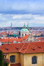 Prague panorama from hradcanske namesti czech republic Stock Image