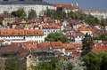 Prague - Panoramic with Uvoz Street Stock Image