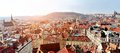Prague panoramic view from old town tower of stare mesto and mala strana hall praha czech republic Stock Photo
