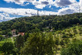 Prague Petrin Hill Tower and Park Royalty Free Stock Photo