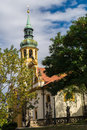 Prague pilgrim place loreta czech republic vertical framing Stock Photos