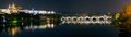 Prague (Praha) panorama at night Royalty Free Stock Photo