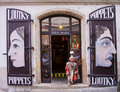Prague, puppet shop Royalty Free Stock Photo