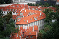 Prague red roof tops Stock Photo