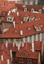 Prague roof tops. Aerial view of old red roofs in prague from top of city hall Royalty Free Stock Photo