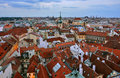 Prague roofs in czech republic Royalty Free Stock Image