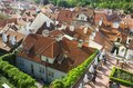 Prague roofs in historical center czech republic Stock Photo