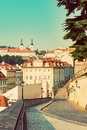 Prague s mala strana lesser town of prague historic district of the city quarters and streets on Royalty Free Stock Image