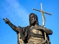 Prague statue Stock Photography