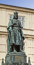Prague, statue of Charles IV, Holy Roman Emperor and King of Boh Royalty Free Stock Photo