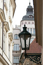 Prague street lamp on the streets of Royalty Free Stock Images