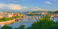 Prague at sunset time Royalty Free Stock Photo