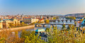 Prague at sunset view on Royalty Free Stock Images