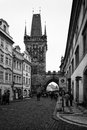 Prague tour de guet charles bridge Photo libre de droits