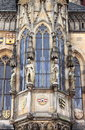 Prague town hall window with sculptures closeup of czech republic Royalty Free Stock Photo