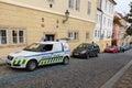 Prague. Traffic police. Royalty Free Stock Photo