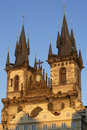 Prague Tyn Church Stock Photography
