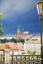 Prague under cloudscape Royalty Free Stock Photo