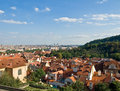 Prague view from the hill Royalty Free Stock Image