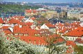 Prague - view from Petrin park Royalty Free Stock Photo