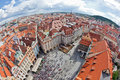 Prague view of roof tops Royalty Free Stock Photos