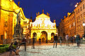 Prague, view of St. Salvator's cathedral Stock Image