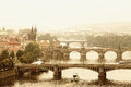 Prague, view of the Vltava River Royalty Free Stock Photography