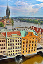 Prague Vltava River Royalty Free Stock Photo