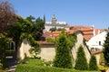Prague - vrtba garden and hradcany castle Royalty Free Stock Photo