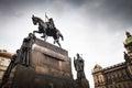 Prague, Wenceslas Square Royalty Free Stock Photo