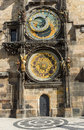 Pragues astronomical clock detail of the famous in prague Stock Images