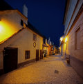 Praha - Golden Lane in night Royalty Free Stock Photo