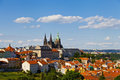Praha panorama view of from above Stock Photos