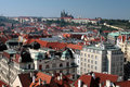 Praha - Praag, Kasteel in de hoofdstad van de Tsjechische Republiek Stock Foto