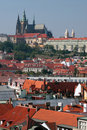 Praha - Praag, kasteel in de hoofdstad van de Tsjechische Republiek Stock Afbeeldingen