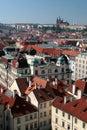Praha - Prague, château dans la capitale de la République Tchèque Photo libre de droits