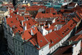 Praha - Prague, roofs the capital city of the Czech Republic Stock Photography
