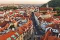 Praha sunset in city the capital of czech republic Royalty Free Stock Image