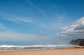 Praia da cordama portugal beautiful beach in the south west of called Royalty Free Stock Photos