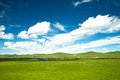 Prairie mongolia under the blue sky Royalty Free Stock Photography