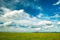 Prairie mongolia under the blue sky Stock Photos