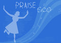 Praise god woman the lord vector illustration Royalty Free Stock Photos