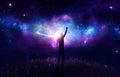 Praise with nebula Royalty Free Stock Photo
