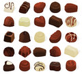Pralines set of a various chocolate Royalty Free Stock Image