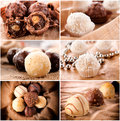 Pralines time large group of the sweet homemade Royalty Free Stock Image