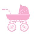 Pram baby carriage vector illustration of the Royalty Free Stock Photography