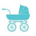 Pram baby carriage vector illustration of the Stock Photo