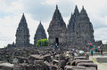 Prambanan temple the biggest one hindu s in magelang centre of java Stock Images