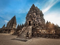 Prambanan Temple at Sunset, Central Java, Indonesi Royalty Free Stock Photo